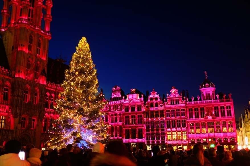 Brussels Christmas market in Belgium