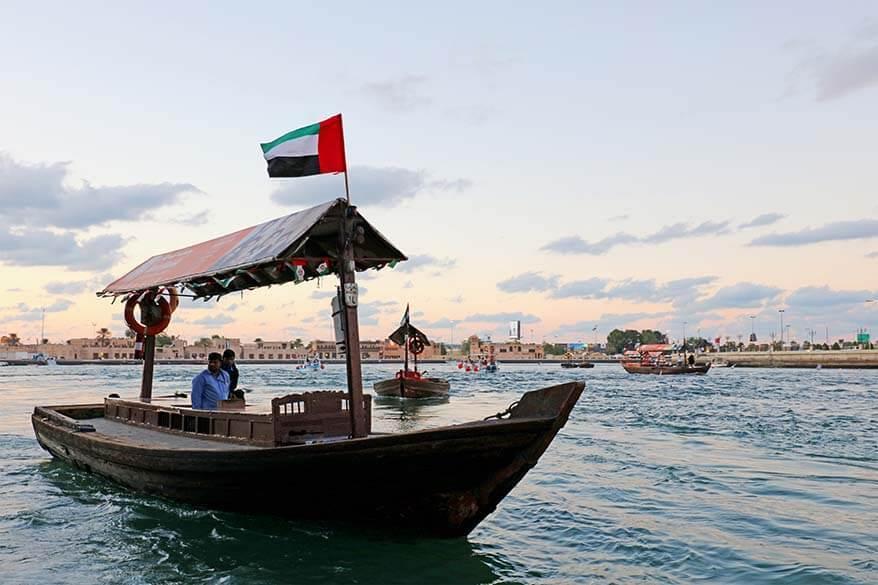 Dubai Creek water taxi Abra