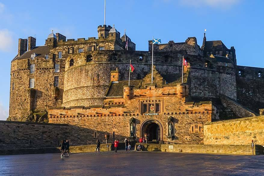 Edinburgh Castle is one of the must see places in Edinburgh Scotland