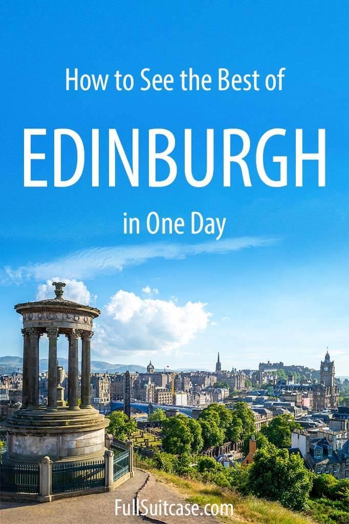 Edinburgh in one day