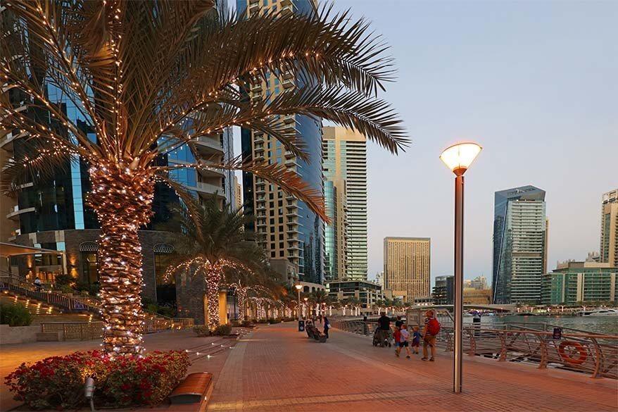 Exploring Dubai Marina with kids