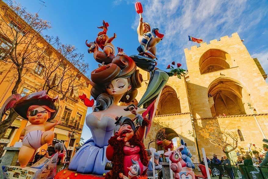 Fallas Festival in Valencia Spain in March