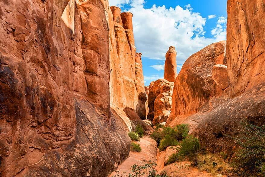 Fiery Furnace hike in Arches National Park