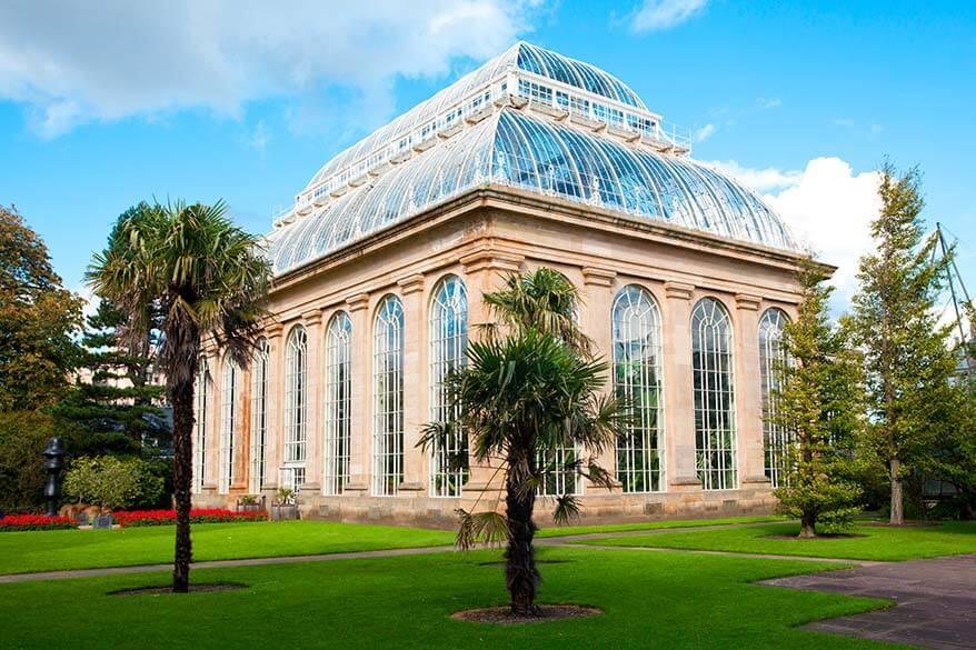Glasshouse in Royal Botanic Garden Edinburgh