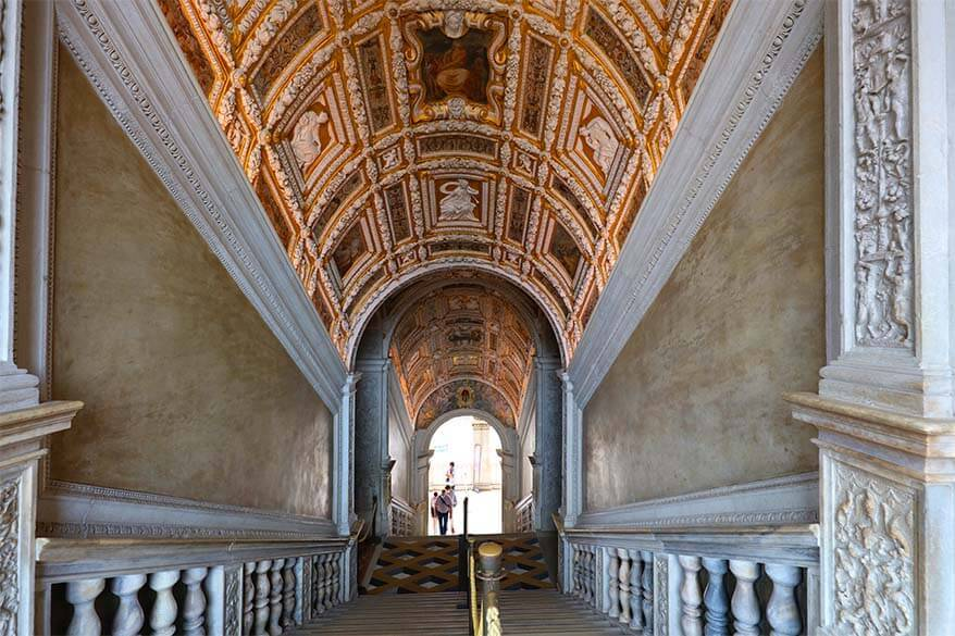 Golden Staircase (La Scala d'Oro) Doges Palace in Venice