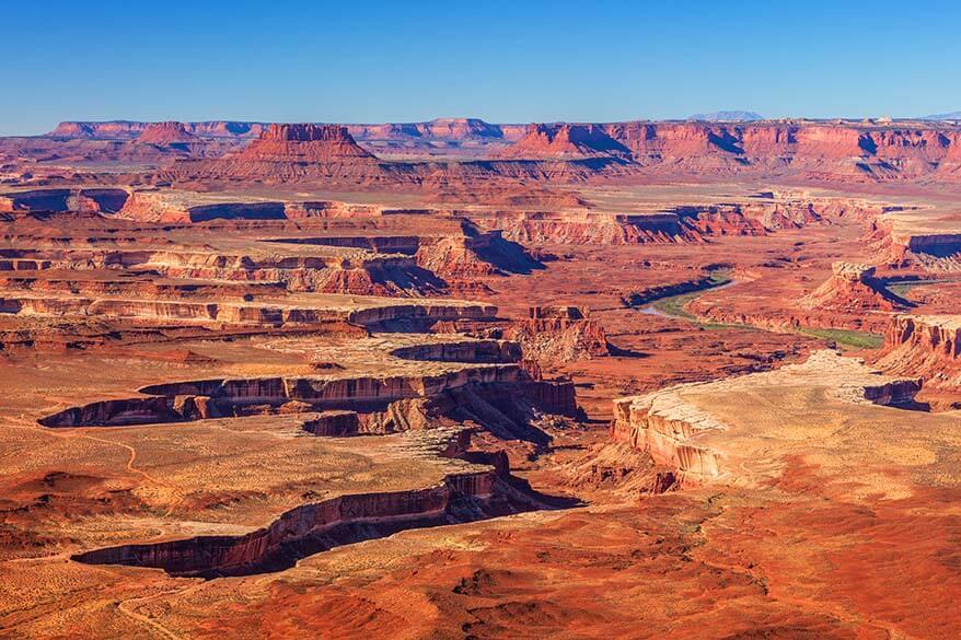 Green River Overlook - one of the best viewpoints in Canyonlands National Park