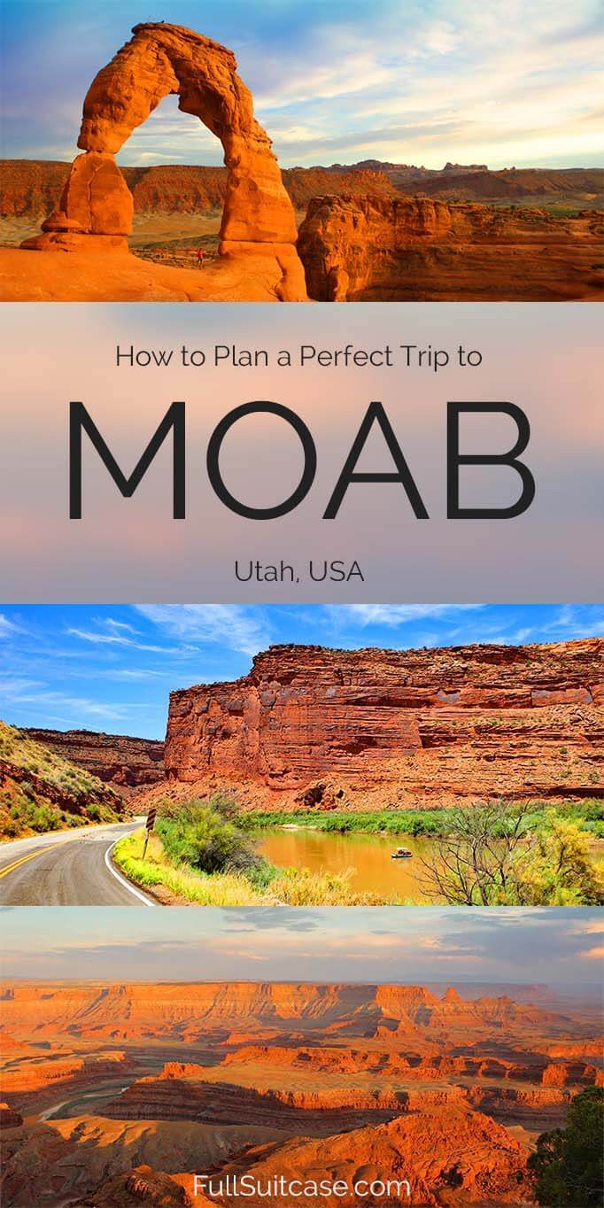 How to plan a trip to Moab Utah - itinerary suggestions