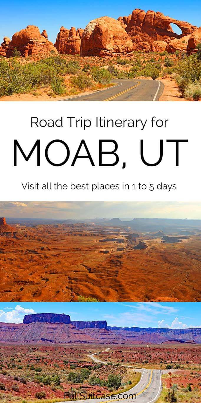Moab road trip itinerary suggestions