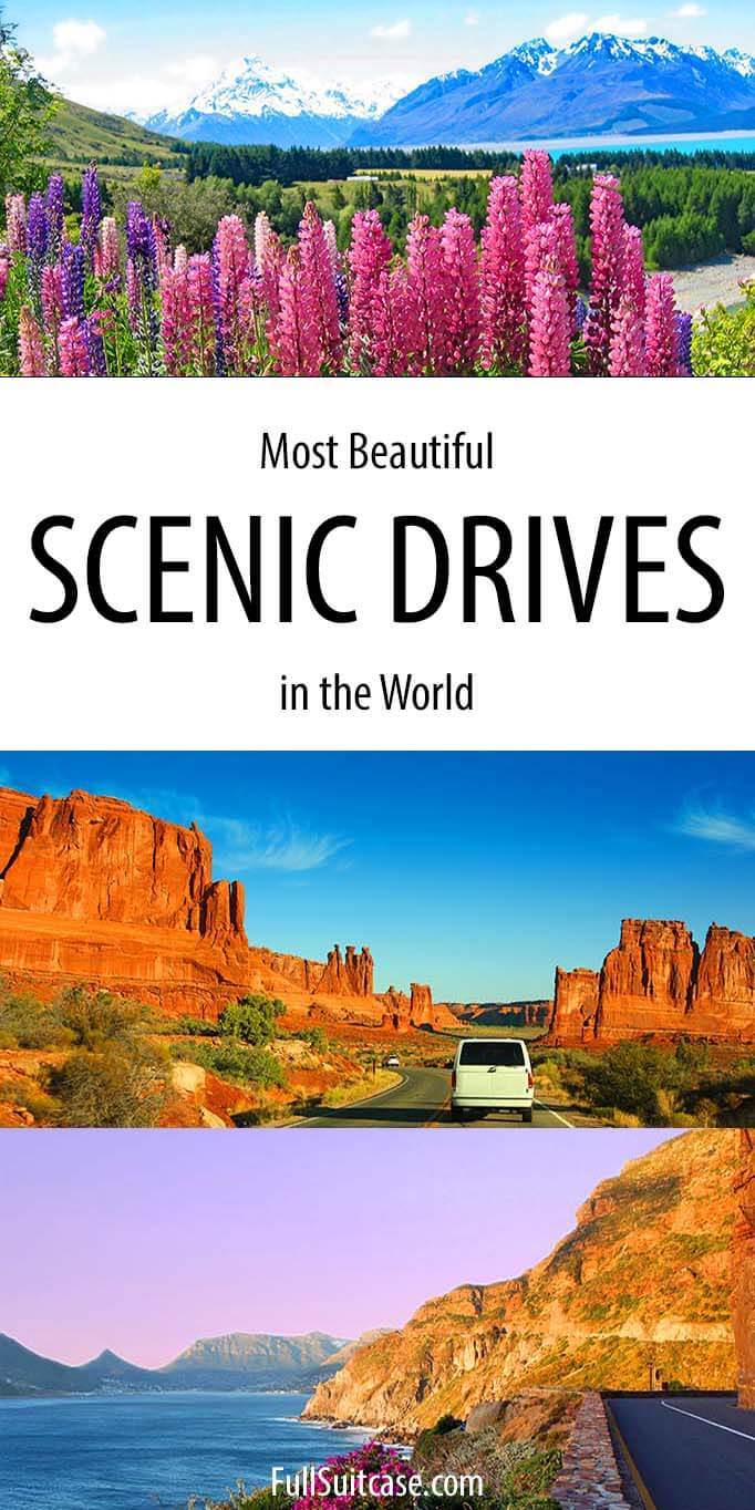 Most beautiful scenic drives and road trips from all over the world
