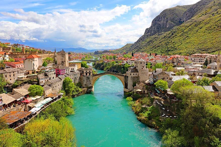 Mostar in Bosnia and Herzegovina in April