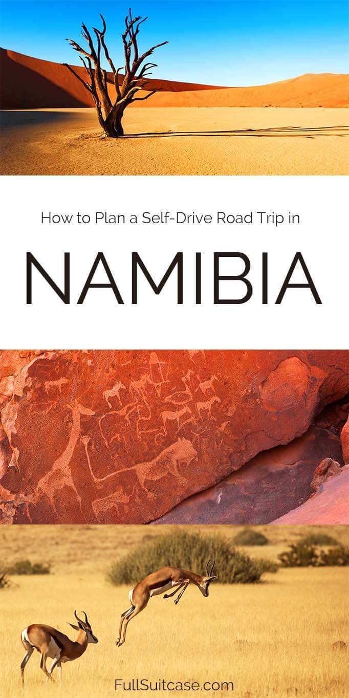 Namibia self drive tour and road trip itinerary