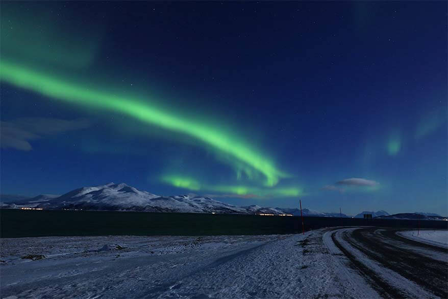 Northern Lights in Tromso Norway in March