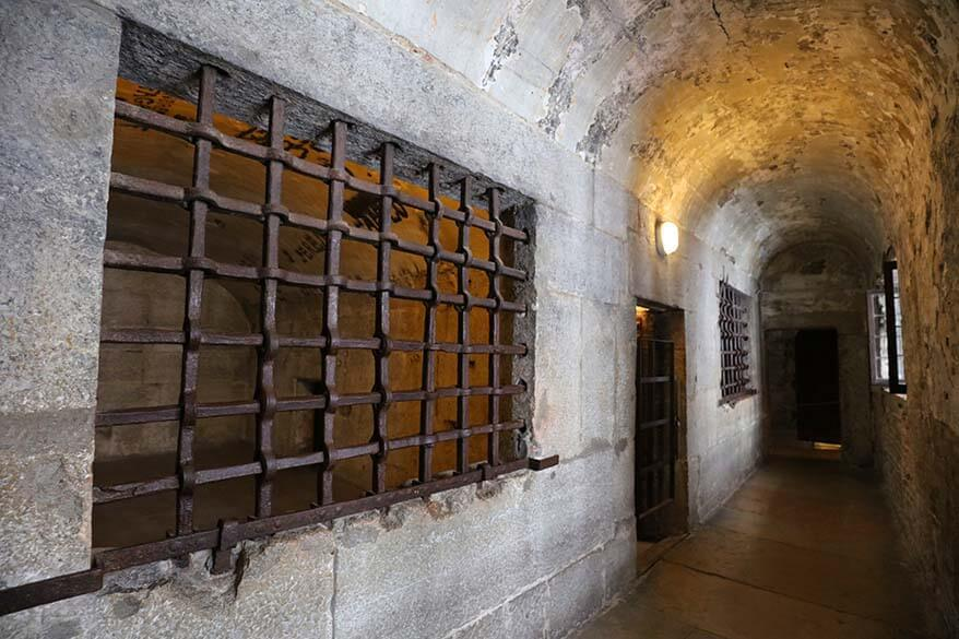 Prison cells inside the Doges Palace in Venice