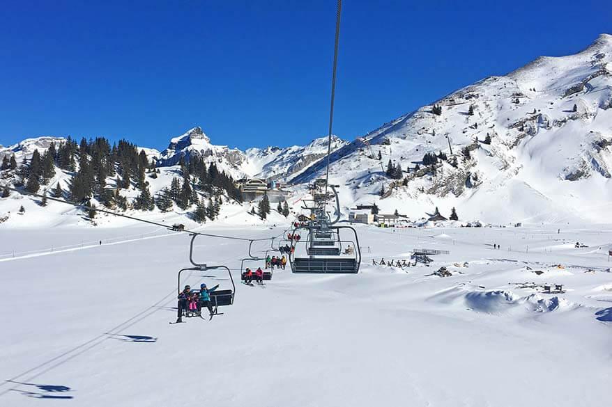 Skiing in Europe in February