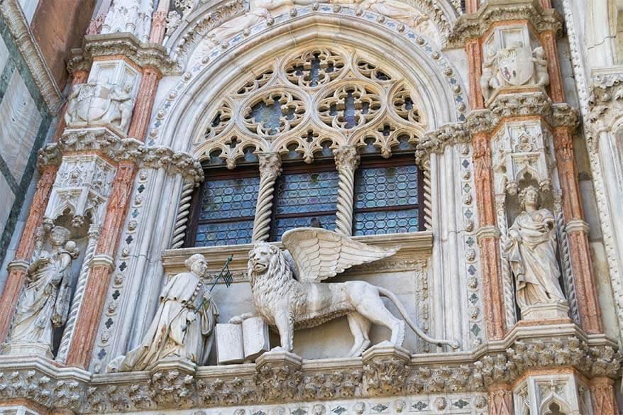 St Marks Lion Paper Gate (Porta della Carta)