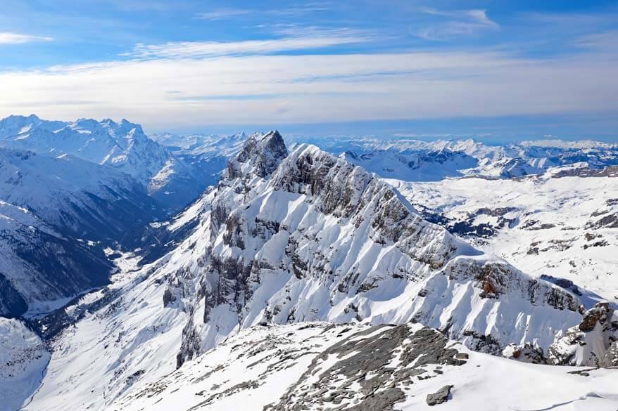 Swiss Alps in February