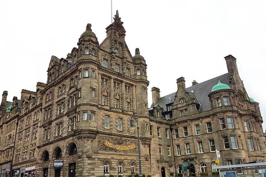 The Scotsman Hotel in Edinburgh