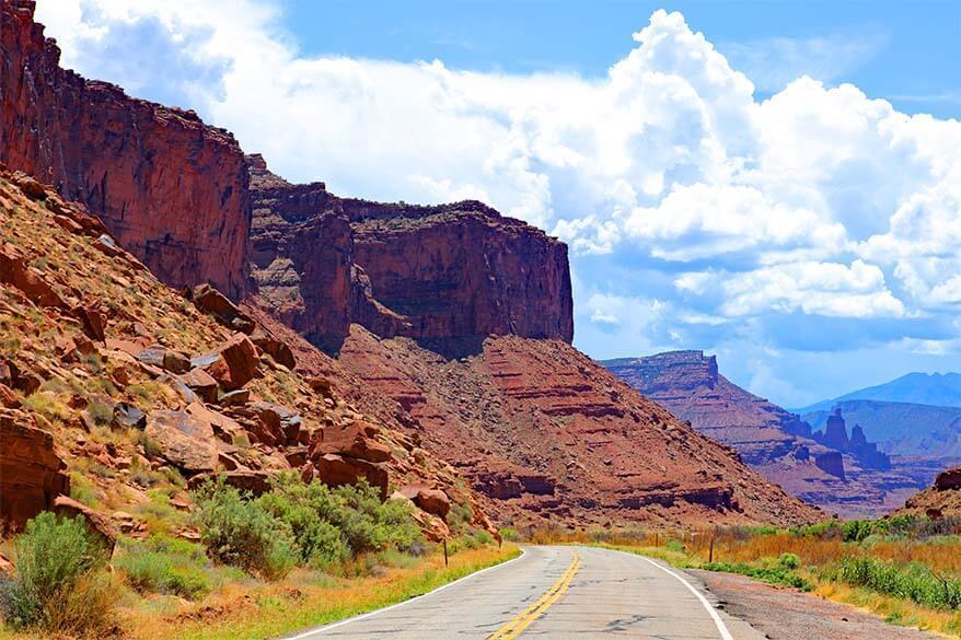 Utah scenic road 128 near Moab