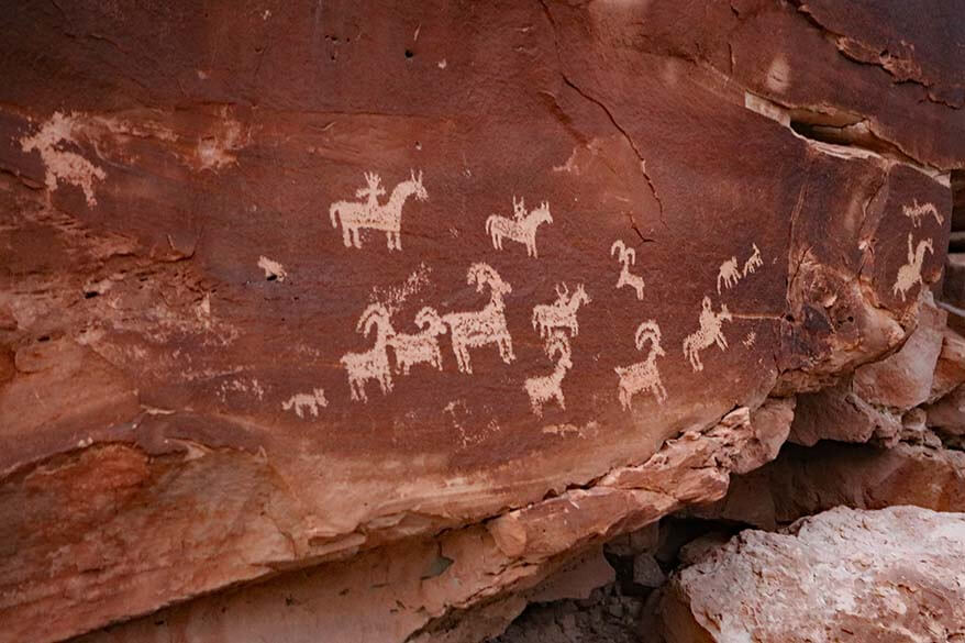 Ute Rock Art at Wolfe Ranch in Arches NP