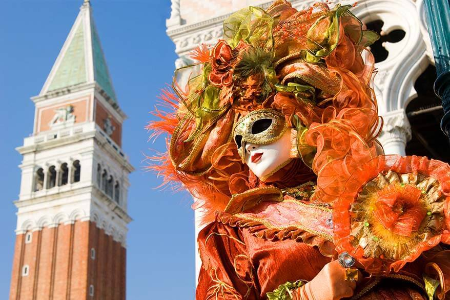 Venice Carnival takes place in February