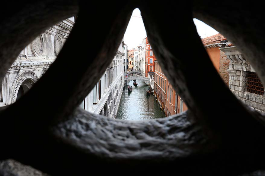 View from the bridge of Sighs in Venice