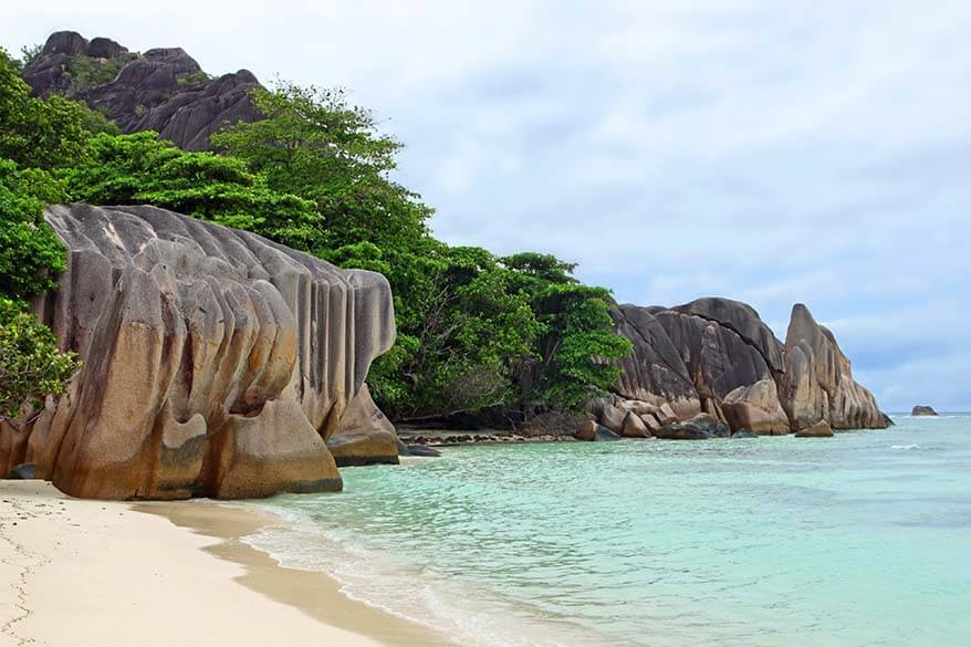 Anse Source Dargent beach in La Digue Seychelles