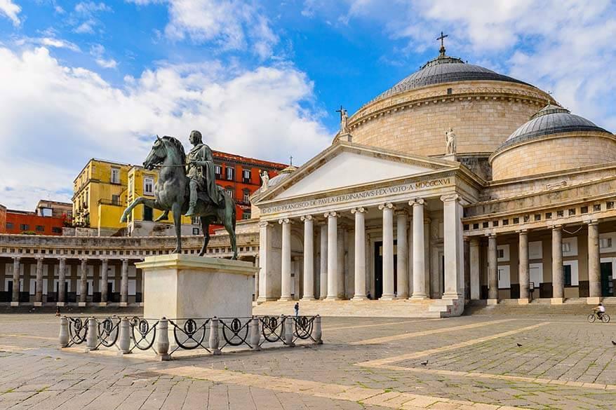 Basilica of San Francesco di Paola on Piazza del Plebiscito in Naples Italy