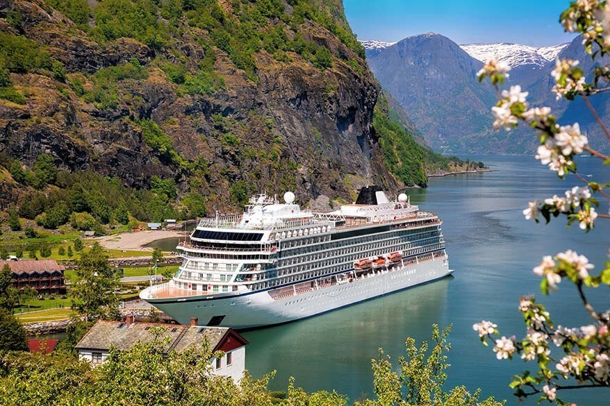 Cruise ship in Flam Norway