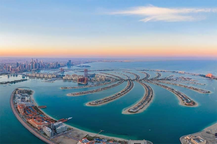 Dubai Palm Jumeirah aerial view