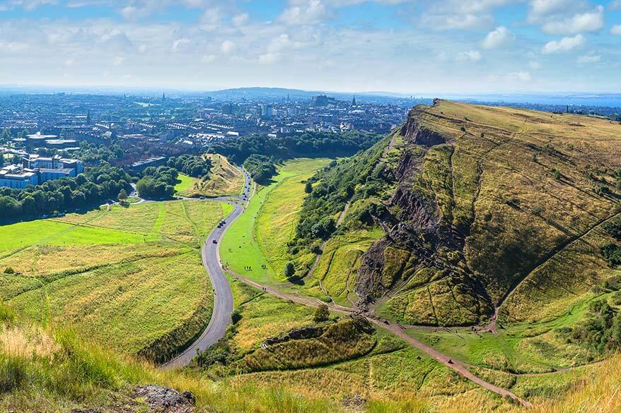 Edinburgh as seen from Arthur's Seat