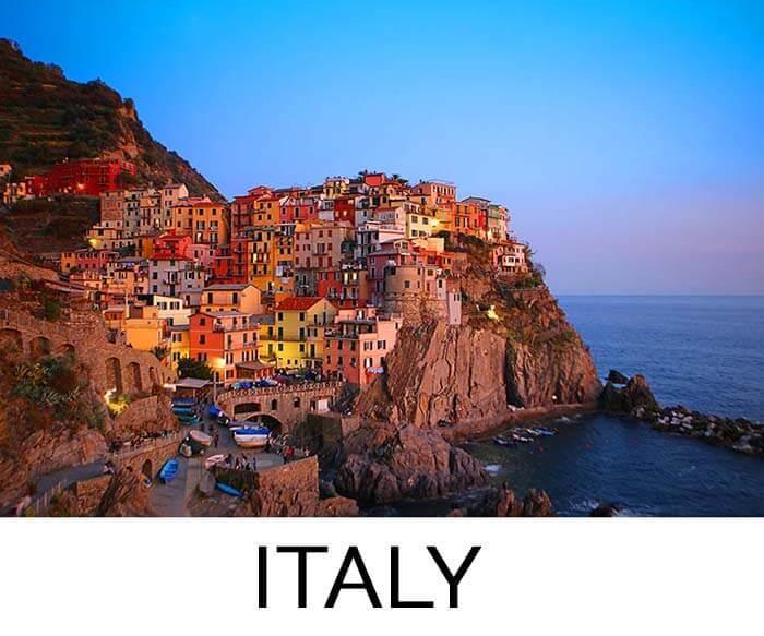 Favorite destination Italy