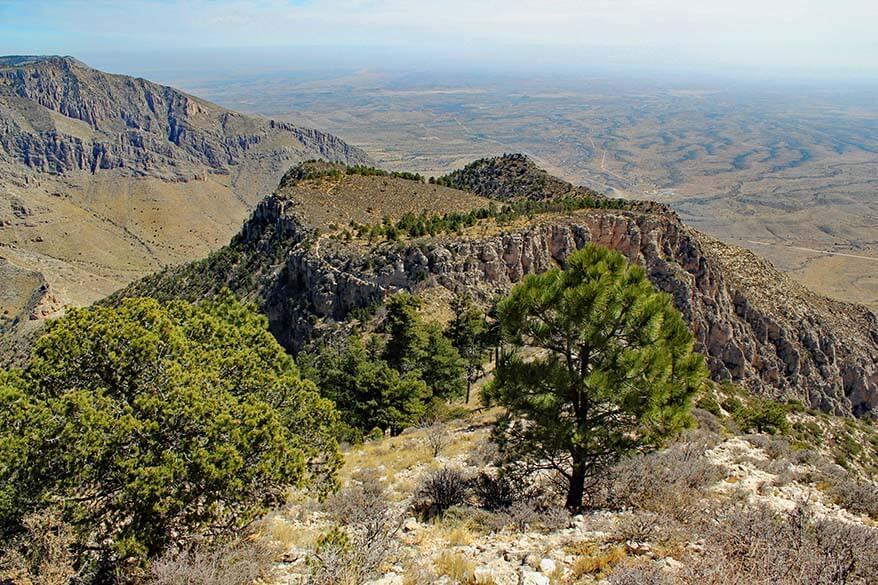 Guadalupe Mountains National Park in March