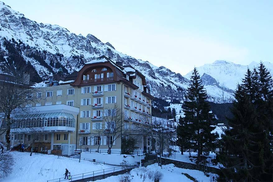 Historic hotel Regina in Wengen Switzerland