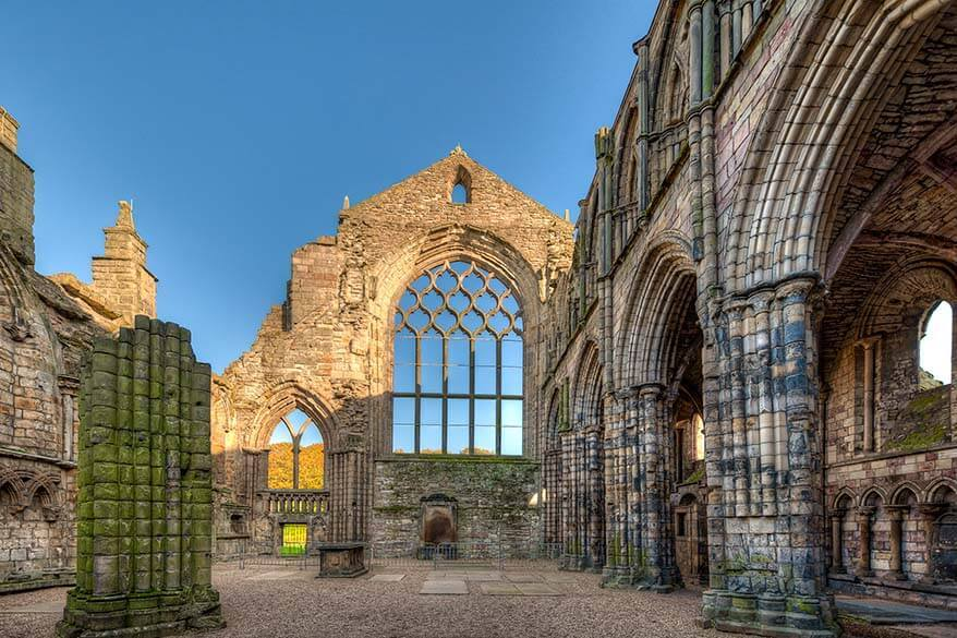 Holyrood Abbey - one of the best places to visit in Edinburgh