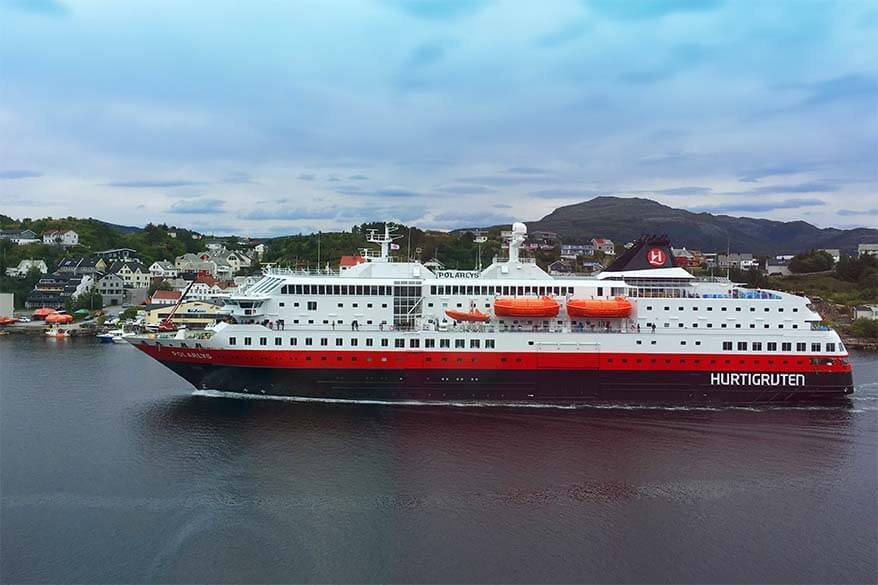 Hurtigruten cruise ship in Norway