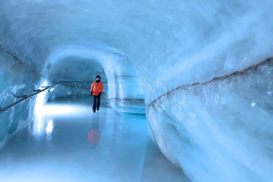 Ice tunnel at Jungfraujoch