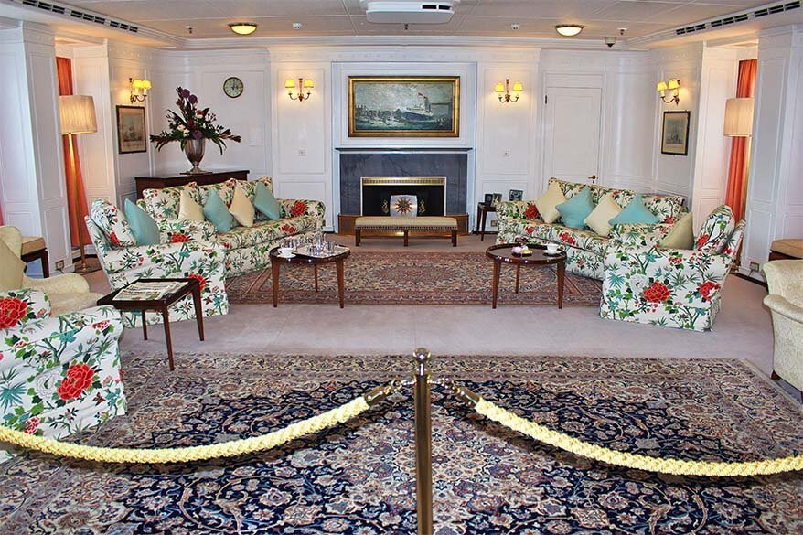 Interior of the Royal Yacht Britannia in Edinburgh
