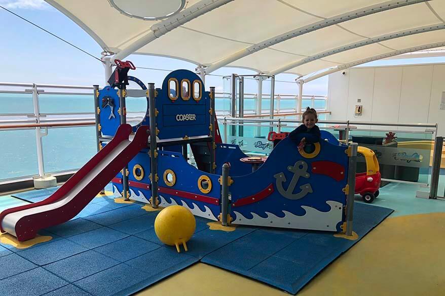 Kids play area on Britannia cruise ship