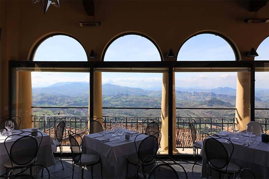 La Terrazza Restaurant at Hotel Titano in San Marino