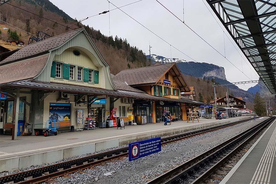 Lauterbrunnen railway station in Switzerland