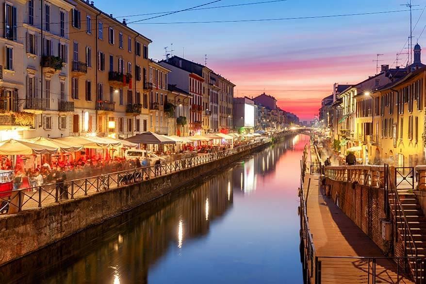 Naviglio Grande in Milan Italy