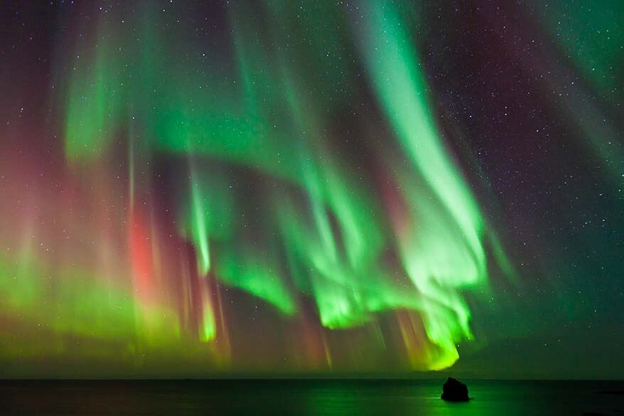 Northern Lights above the sea