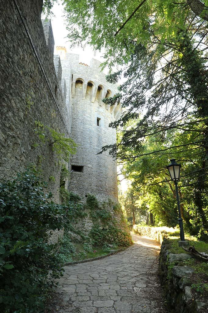 Path between Cesta Tower and Montale in San Marino