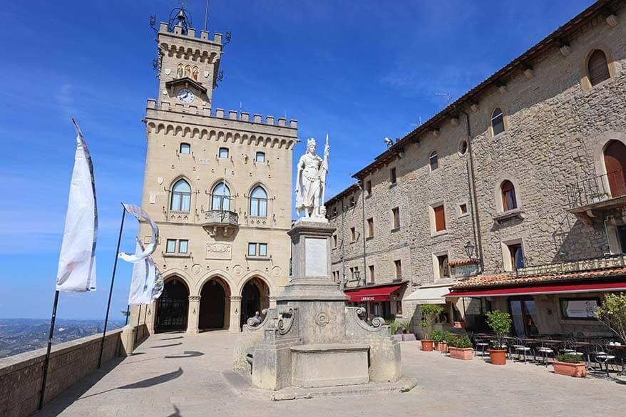 Piazza della Liberta in San Marino
