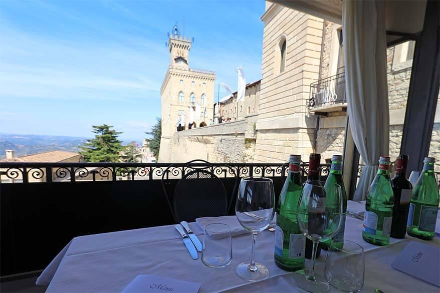 Restaurant La Terrazza at Hotel Titano in San Marino
