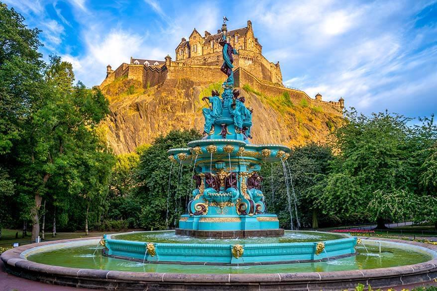 Ross Fountain in Edinburgh