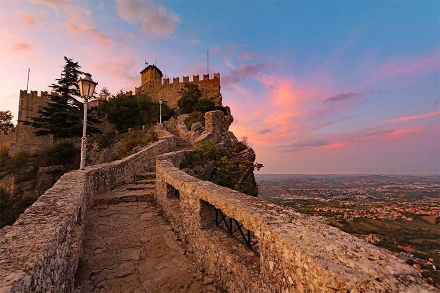 San Marino sunset