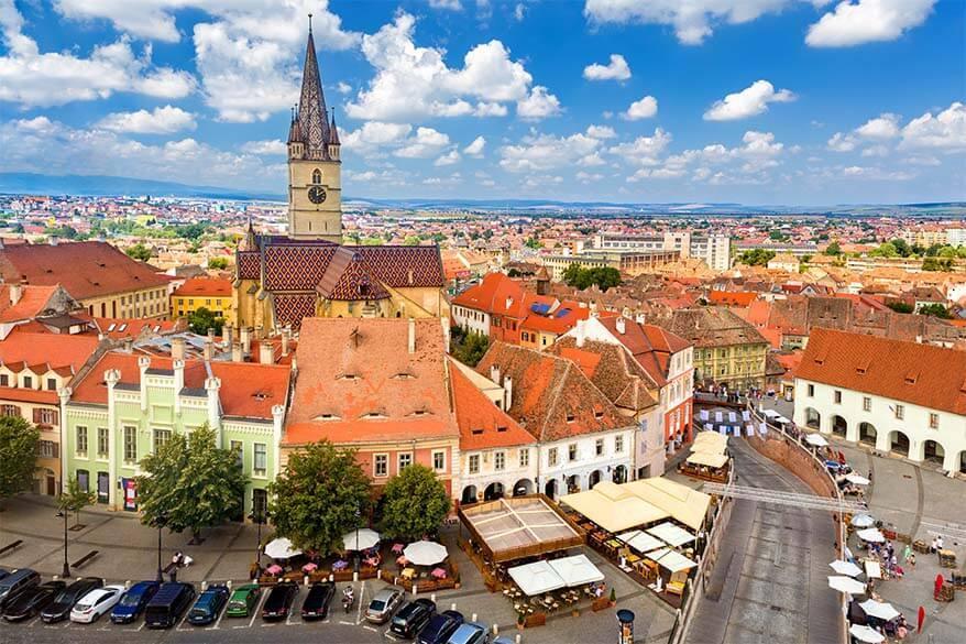Sibiu town in Romania