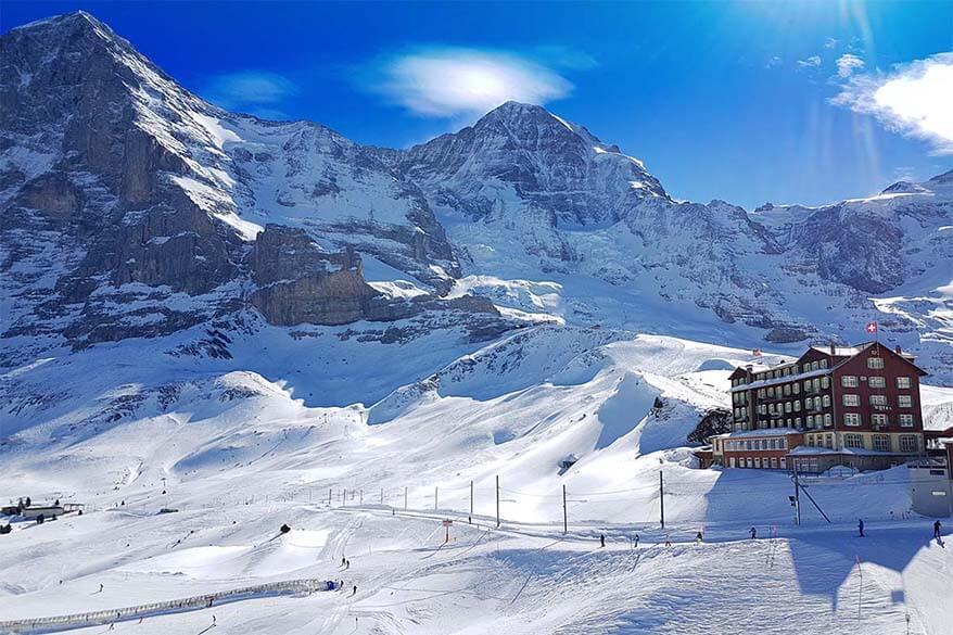 Ski area at Kleine Scheidegg in Switzerland