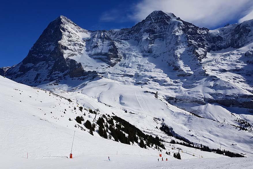 Skiing in Jungfrau Region in Switzerland